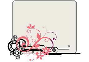 Vector de quadro floral