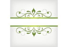 Vetor de quadro verde swirly