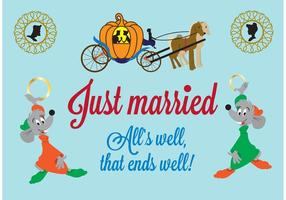 Cinderella Just Married Vectors