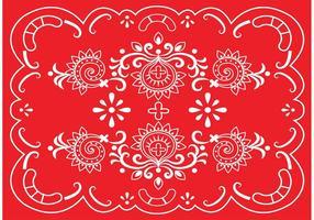Borda vermelha do vetor Paisley