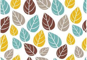 Vetor de padrão de folhas sem emenda ornamentado
