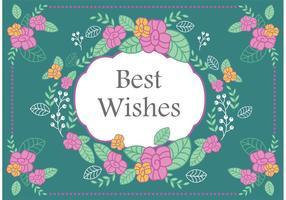 Vinyage best wishes vector