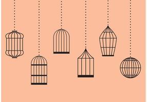 Vetores de gaiolas de pássaros vintage