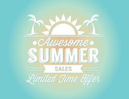 Ilustração de venda de verão