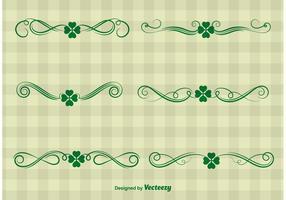 Vetores do ornamento do dia do St. Patrick
