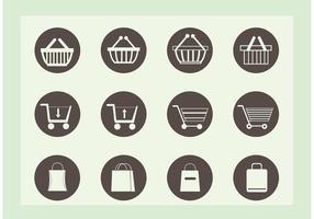 Ícones de vetor de compras grátis