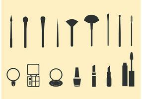 Cosméticos para maquiagem de vetores grátis