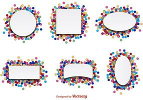 Confetti Party Label Vectors