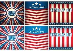 Modelos vetoriais do dia dos veteranos vetor