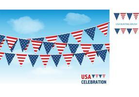 Bandeiras de Bunting de vetores livres dos EUA