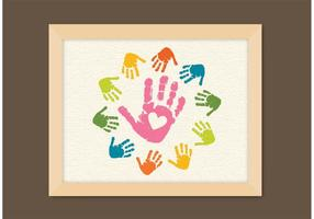 Livre Vector Child Handprints