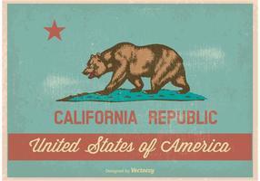 Bandeira de Califórnia do estilo do vintage vetor
