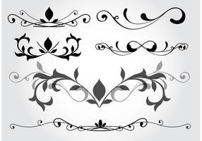 Elementos vetoriais de design floral vetor