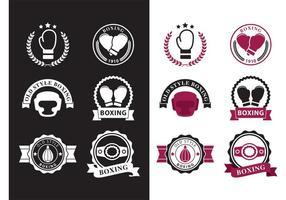 Antigos vetores de emblemas de boxe
