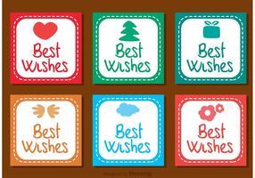 Best Wishes Ícones Quadrados Vector