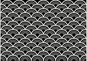 Vetor de padrão abstrato sem emenda preto e branco