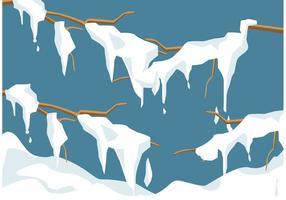 Vetor de neve de derretimento