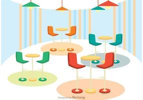 Interior Do Café Vector