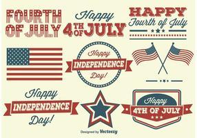 Etiquetas do Dia da Independência vetor