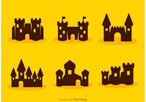 Silhueta cartoon fort castle vectors