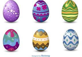 Vetores de ovo de páscoa 3D decorativos