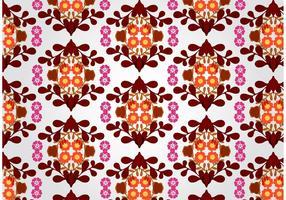 Vetor de padrões florais sem costura