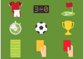 Ícones do vetor de futebol