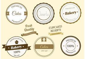 Etiquetas de padaria de vetores grátis