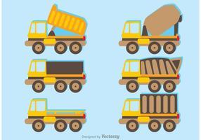 Conjunto de vetores do pacote de caminhões