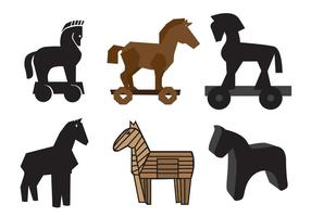 Cavalos de Trojan do vetor livre