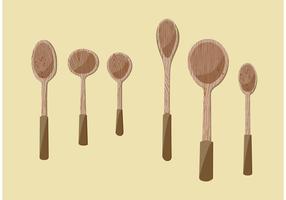 Ilustrações de vetores de colher de madeira