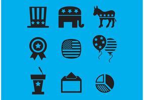 Ícones de vetores das eleições americanas