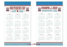 2015/2016 Calendários do Dia da Independência vetor