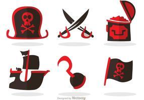 Conjunto de vetores de ícones piratas