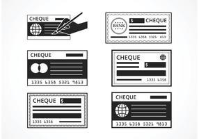 Free Black Blank Check Set do vetor
