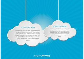 Ilustração da computação em nuvem vetor