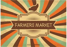 Ilustração do mercado de fazendeiros do vintage
