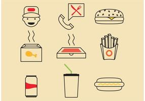 Ícones de vetor de fast food
