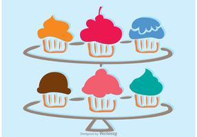 Vector de carrinho Cupcake simples