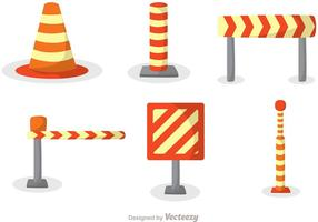 Orange Road Traffic icons vector