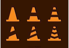 Vetores simples de cone de laranja
