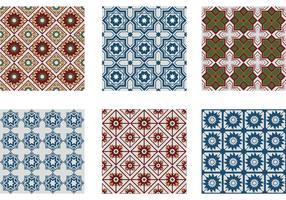 Vetores de padrões sem costura de Marrocos