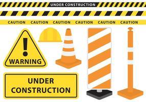 Sob vetores de construção