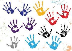 Vetores Childprint da criança
