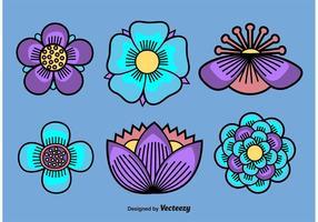 Vetores ilustrados flores
