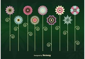 Flores vetoriais mínimas