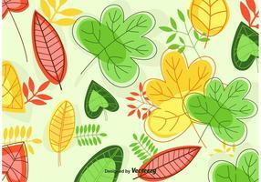 Folhas de vetores de fundo