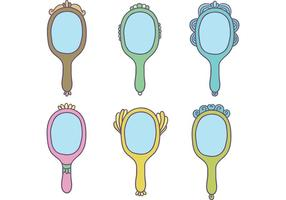 Vetores de espelho de mão vintage gratuitos