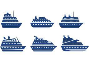 Vetores do Ícone do Cruise Liner