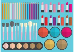 Elementos do vetor de maquiagem